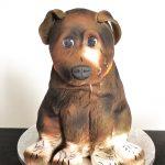 Gâteau sculpté chien