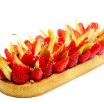 Tarte aux fraises et rhubarbe