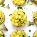 Tarte ananas, citron vert et coriandre