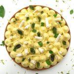 Tarte citron vert et basilic