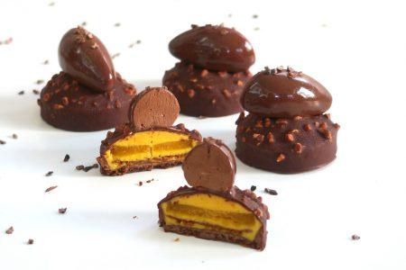 Tartelette chocolat et fruits de la passion