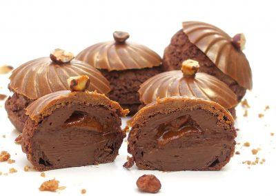 Chou au chocolat et praliné