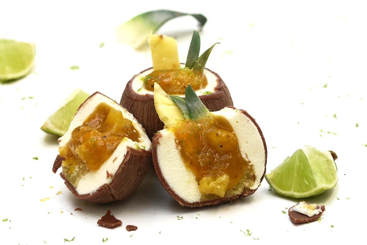 Petit gâteau noix de coco et ananas