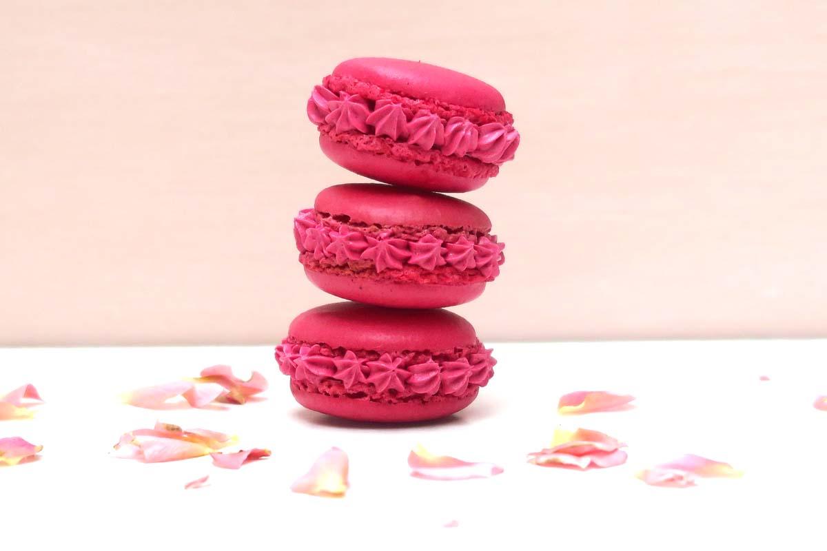 Macarons framboise et rose