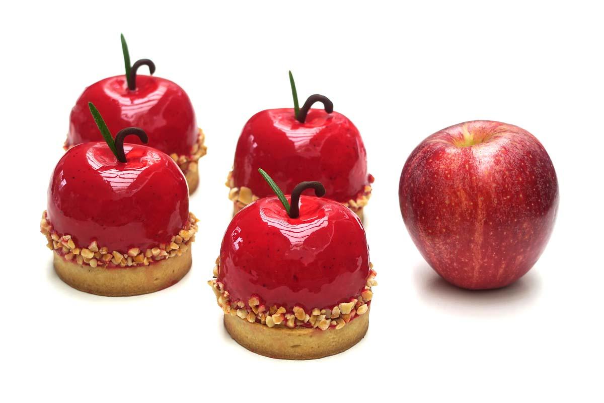 Tarte aux pommes rouges