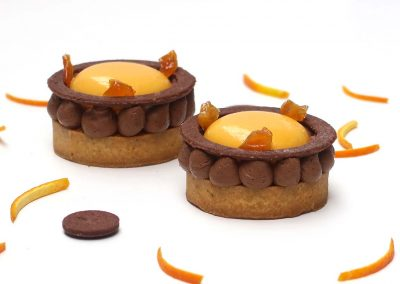 Tartelette au chocolat et à l'orange