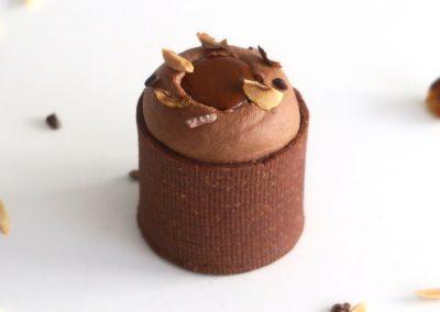 Bouchée au chocolat et noisettes